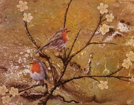 birds on a twig hcheverie